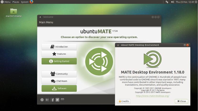 Ubuntu MATE 17.04, una versión con MATE 1.18.