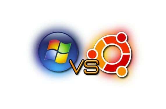 Logo Windows vs Ubuntu