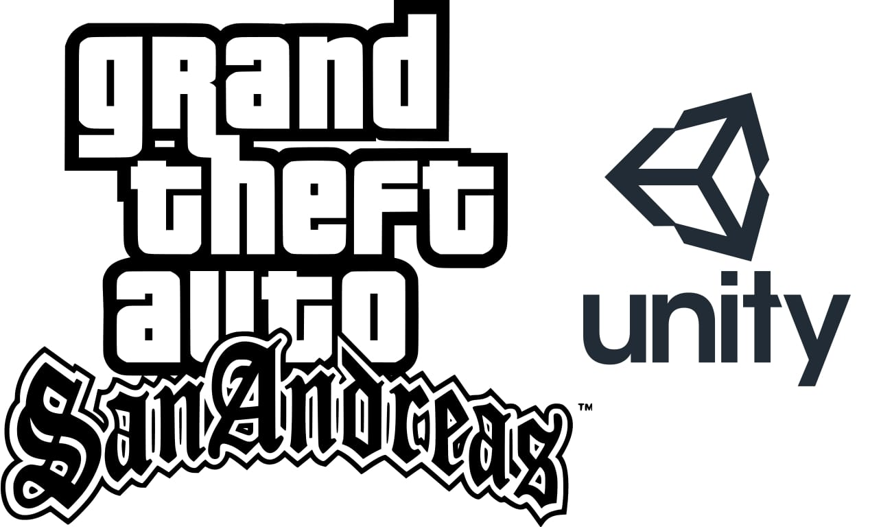 GTA logo y Unity logo