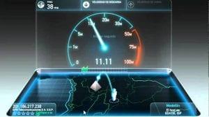 Gráfico de velocidad de red