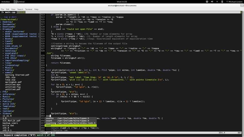 Vim editor de texto en Linux