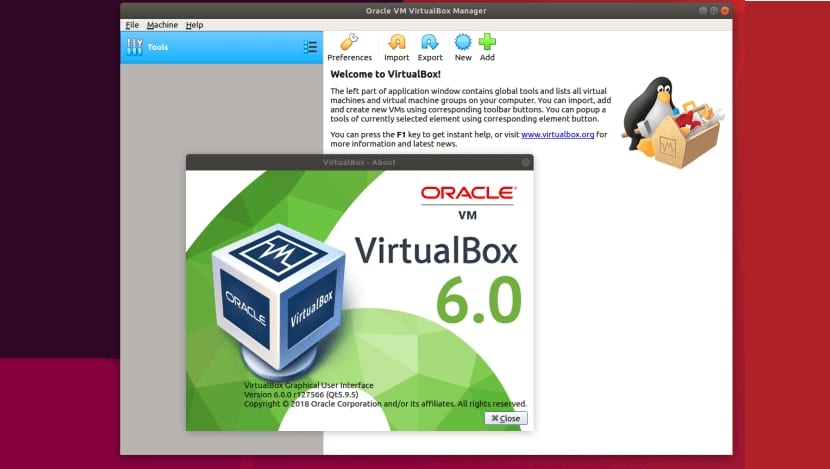 VirtualBox 6.0 captura de pantalla