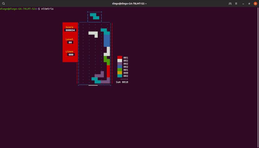 Vitetris, un clon de Tetris para la terminal
