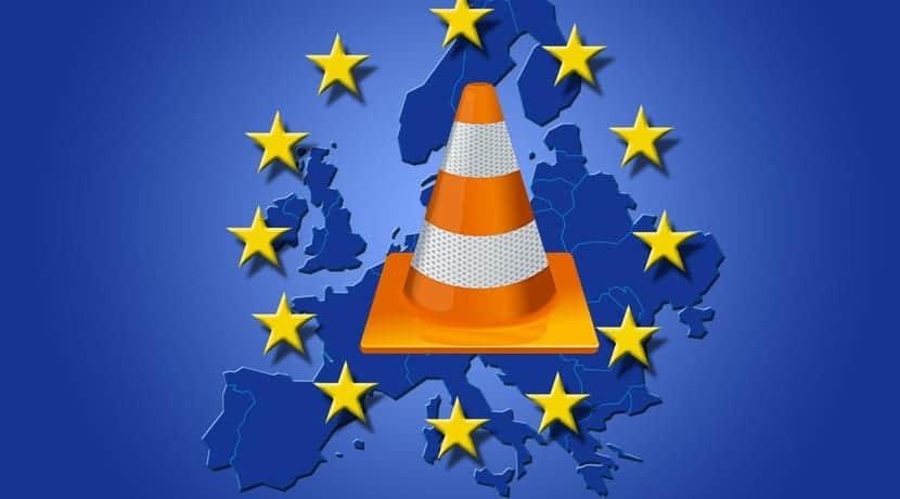 Europa y logo VLC