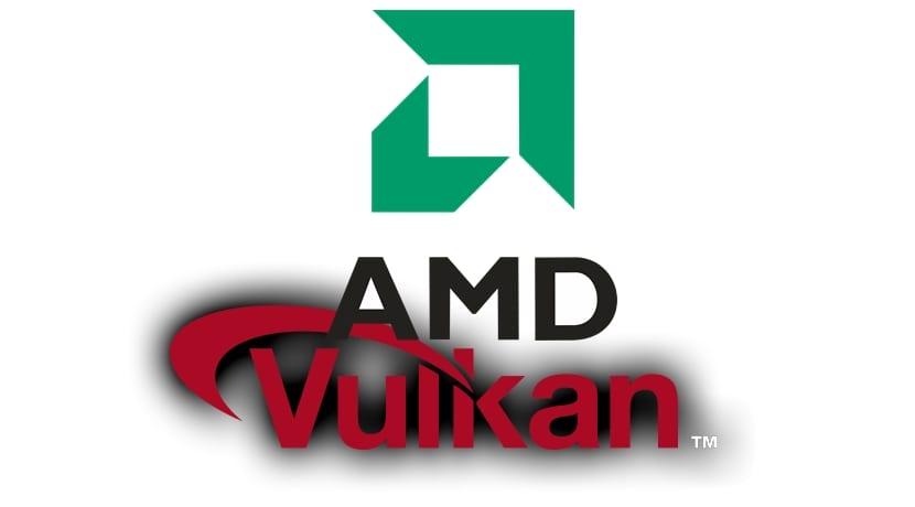 Logos AMD y Vulkan