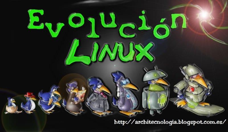 Fondo de pantalla Evolución Linux