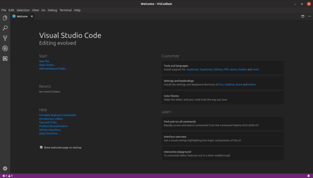 VSCodium es un entorno integrado de desarrollo