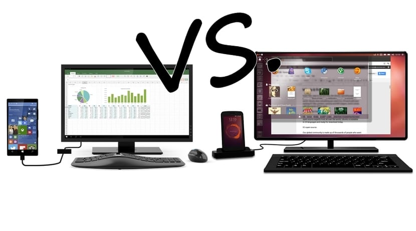 Windows 10 vs Ubuntu convergencia