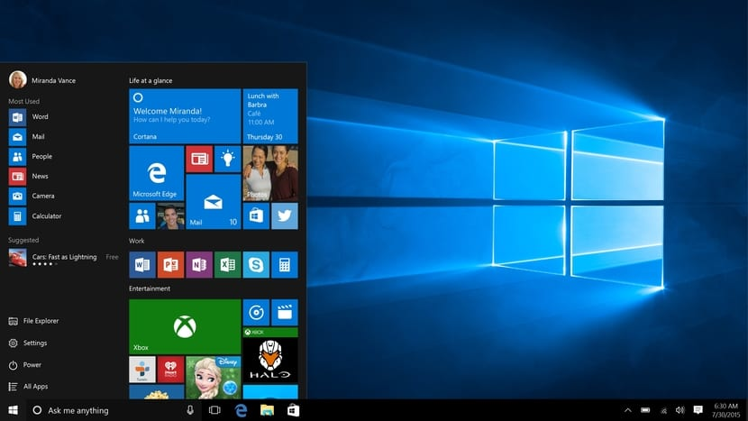 Windows 10 escritorio