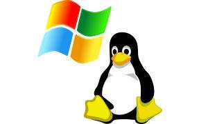 Windows y Linux logos, ProcMon