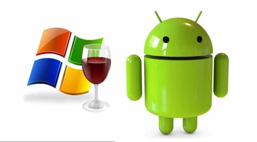 Logo Wine HQ y Andy, con logo Windows