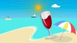 Wine logo en playa