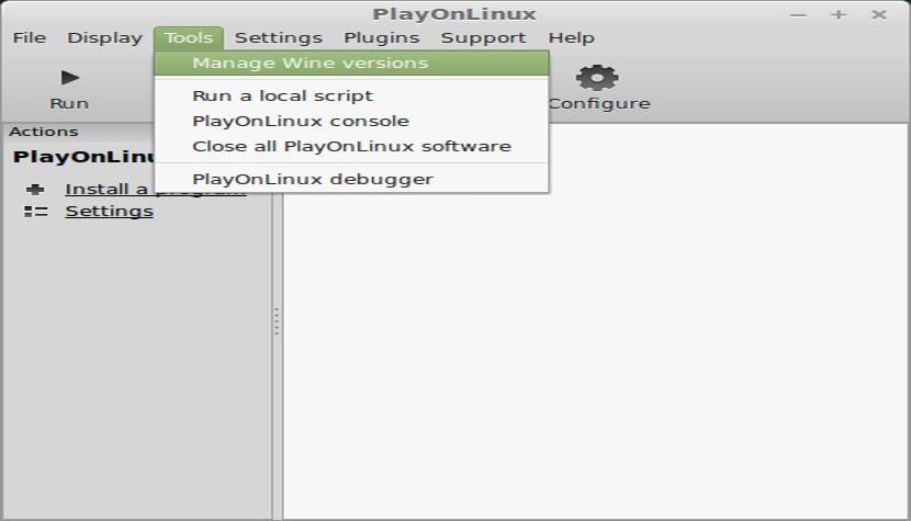 Configurando PlayOnLinux